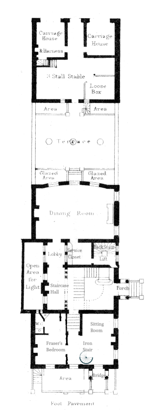 Fraser's rooms floorplan